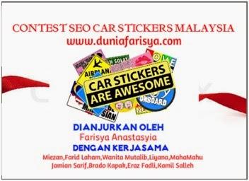 contest seo, Custom Made Sticker Kereta malaysia, due date Custom Made Sticker Kereta