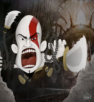 caricatura kratos god of war