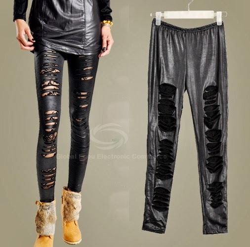 Black Ripped Leggings $15