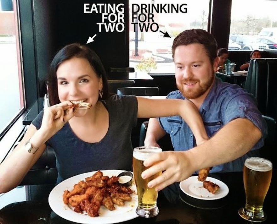 30 Of The Most Creative Baby Announcements Ever - Pregnant Women Don't Drink But They Most Certainly Eat!