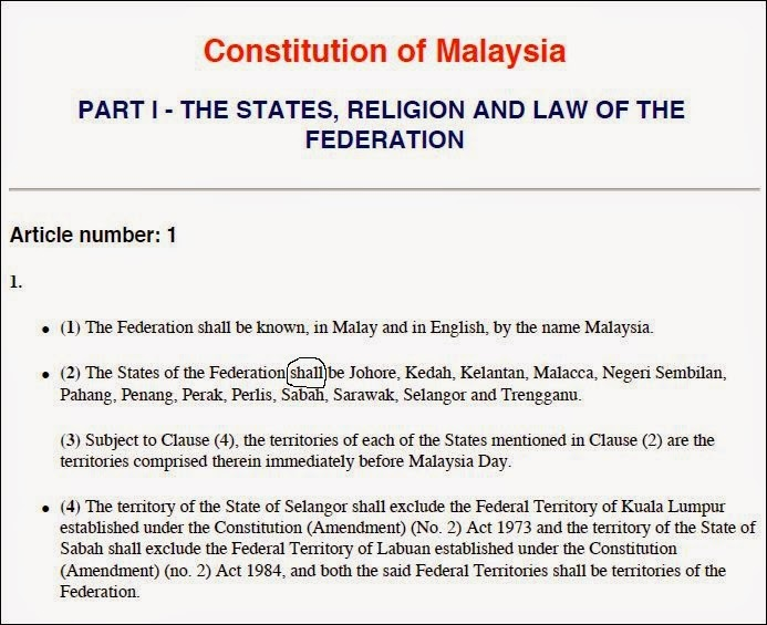 constitution of malaysia The federal constitution of malaya is the grundnorm of the malaysian legal order, the ultimate norm against which the.
