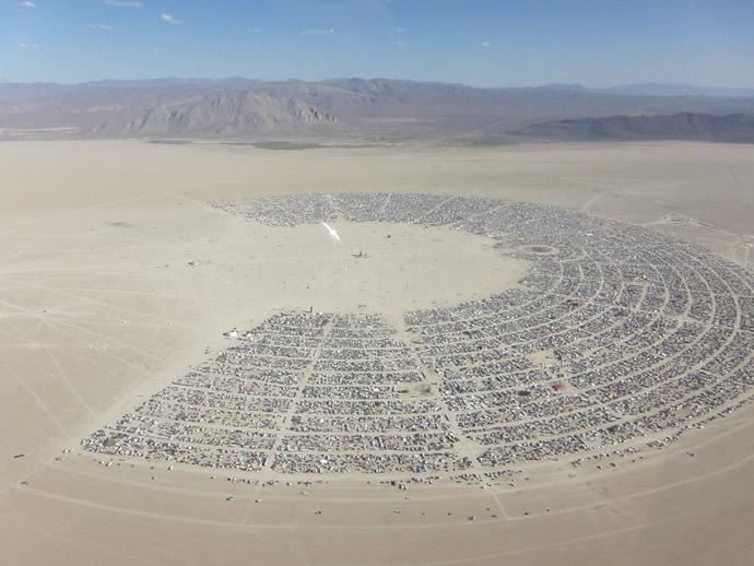 Área onde ocorre o festival Burning Man