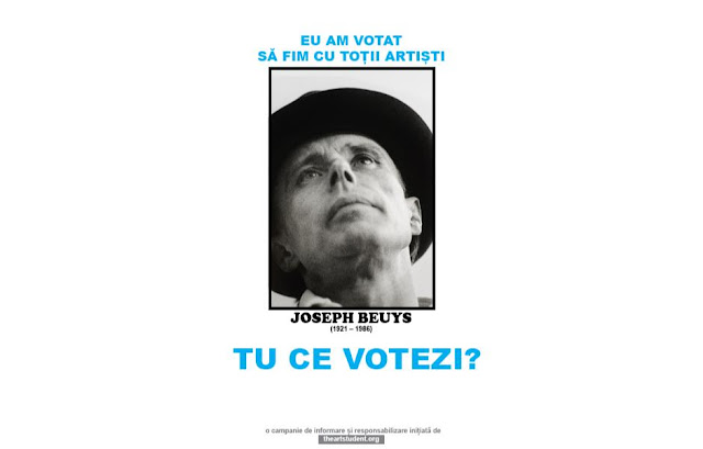 the art student vote campaign university of arts iasi art students initiatives joseph beuys