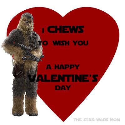 Chewbacca Valentine Free Printable