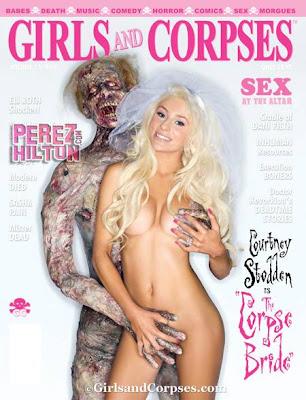 Courtney Stodden accedió a posar para la revista 'Girls & Corpses' con un cadáver