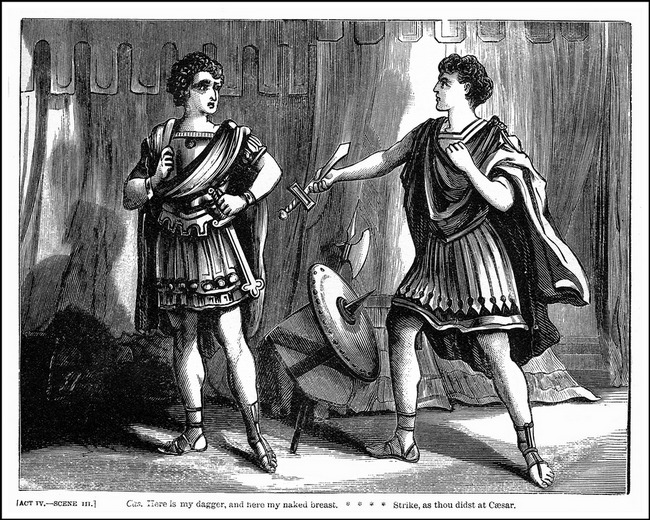 an examination of the scenes in the play julius caesar Julius caesar characters guide studies each character's role and motivation in this play julius caesar: the victorious leader of  of caesar (act iii, scene.