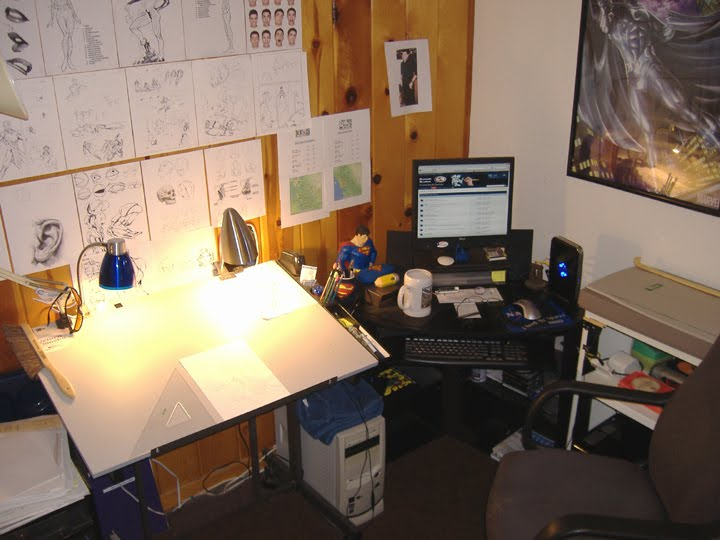 my art workspace and office artist office