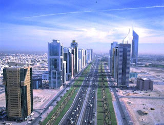 beautiful view of sheikh zayed road dubai