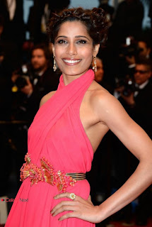 Freida Pinto Pictures in Pink Dress at 66th Annual Cannes Film Festival | ~ Bollywood and South Indian Cinema Actress Exclusive Picture Galleries