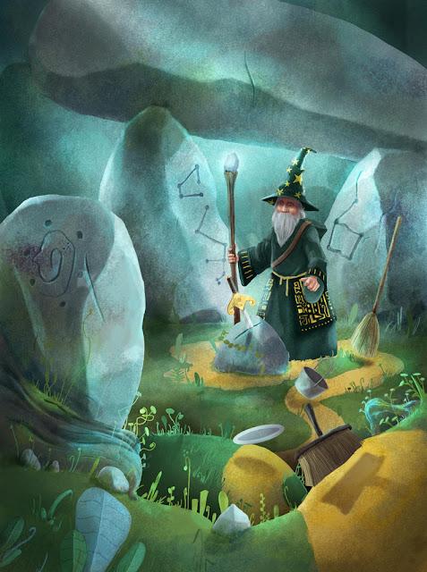 Gaetan Noir - Illustration : Couverture Ed Faton - Virgule. Les Magiciens