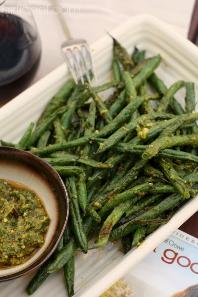 Roasted Green Beans w/ Pistou {food 'n flix: A Good Year} | www.girlichef.com