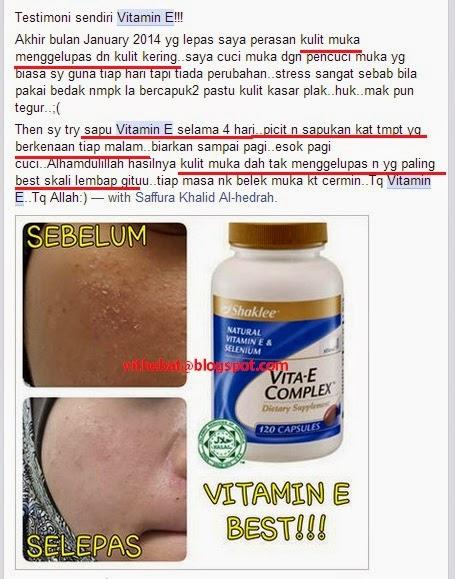 Testimoni Vitamin E