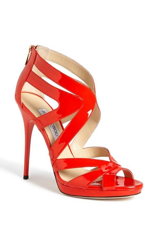 gorgeous red Jimmy Choo sandal