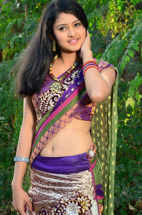 kausalya in saree cute stills