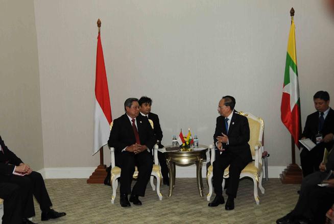 President U Thein Sein asks Indonesian President Yudhoyono ...