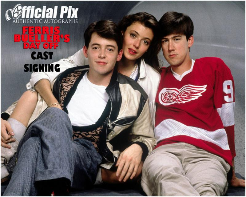 Official Pix Ferris Bueller's Day Off Private Signing! Deadline August 13.