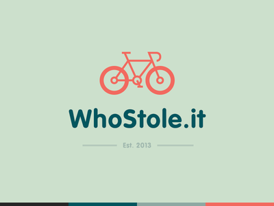 WhoStole Flat Logo Design