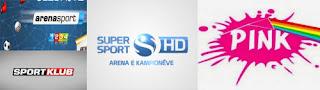 Arena Sport Sport Klub Pink tv channels iptv Ex-Yu