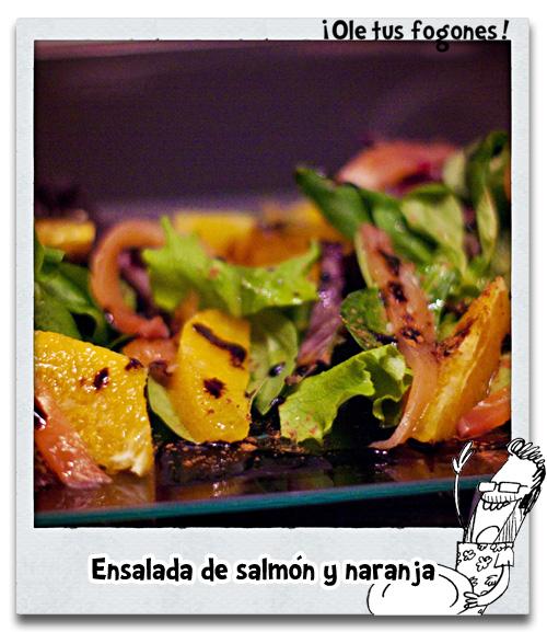 Ensalada de salmón y naranja