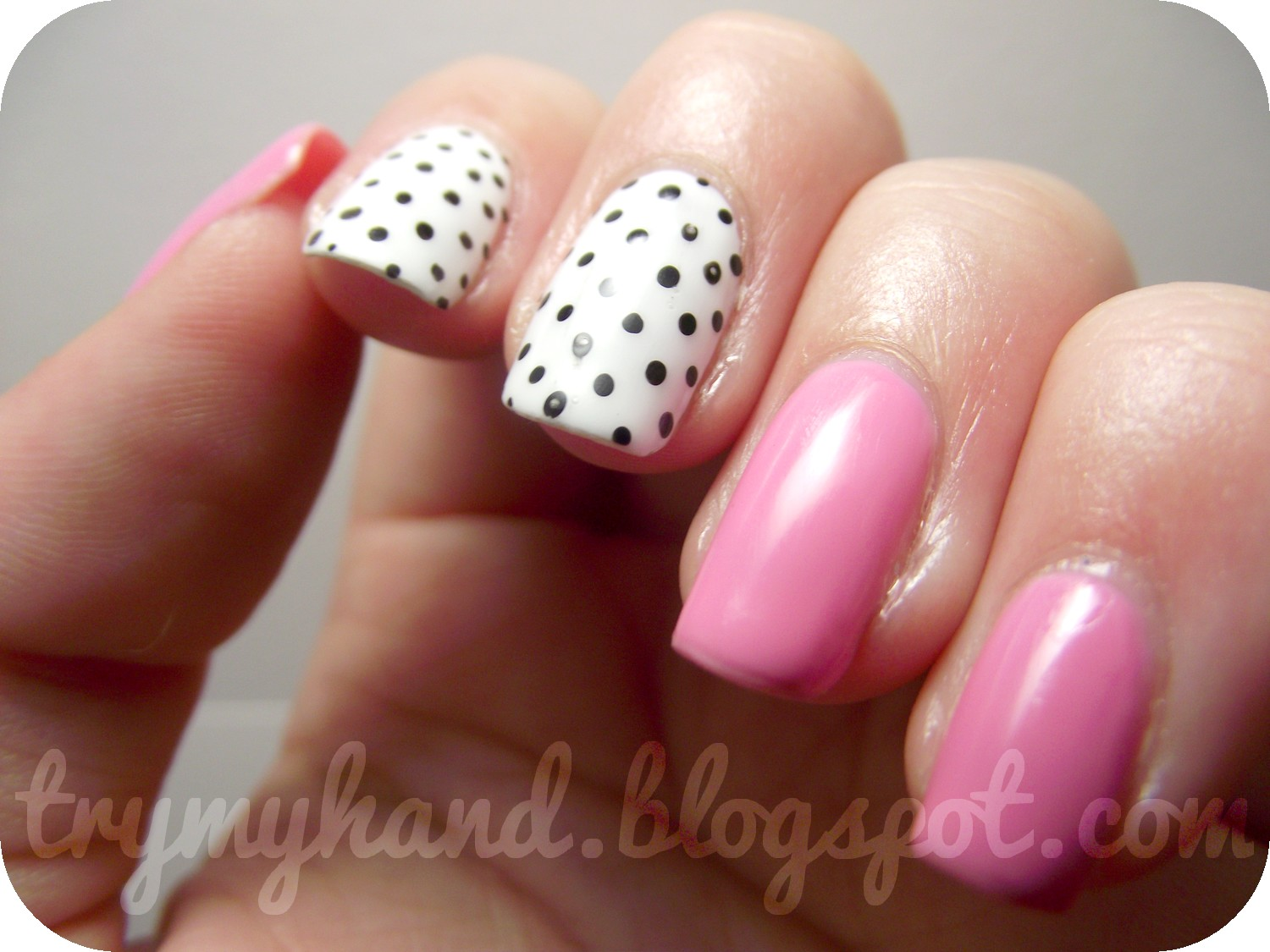 Try my hand white pink and black spots may i add and it actually managed to last for 5 whole days without me getting frustrated and bored with it and ripping it off so proud of myself solutioingenieria Choice Image