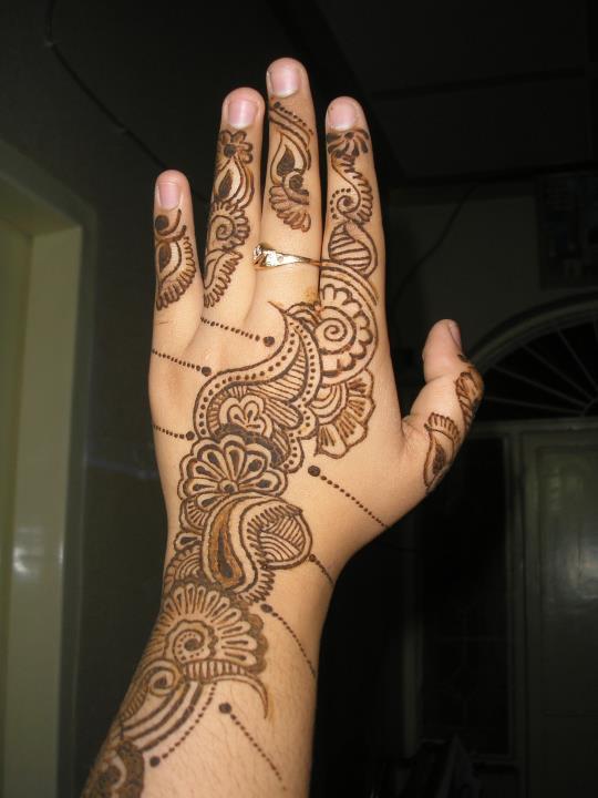 Henna Mehndi Rose Design For Eid : Henna mehndi rose design for eid makedes