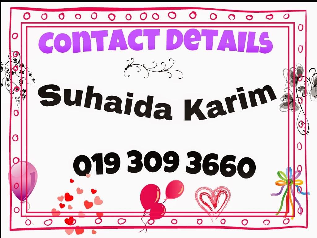 Sila hubungi saya untuk maklumat lanjut!