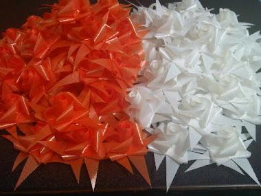 ส้ม - ขาว