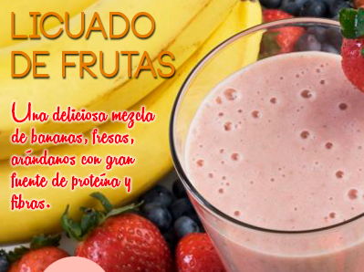 Toma licuado de frutas