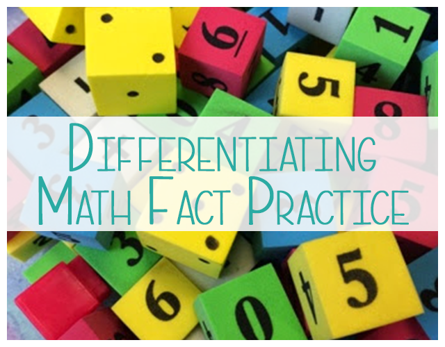 Differentiated Math Fact Practice