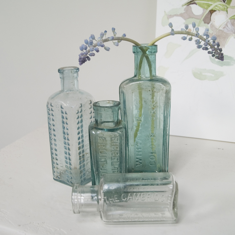 Gone with the fashion for Retro glass bottles