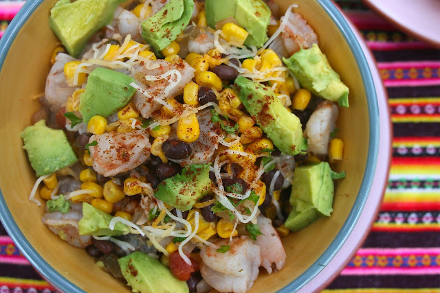 Mexican Shrimp: Avocado & Corn: Simple Living and Eating