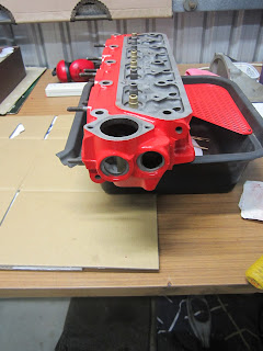 Volvo B20 cylinder head painted