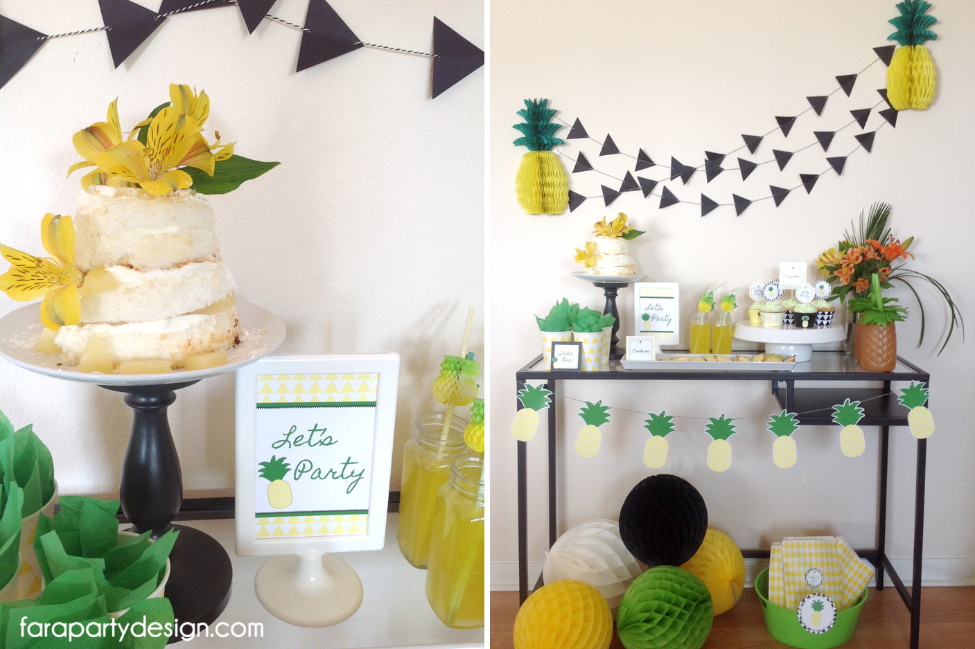 Little things creations fiestas pi as - Decoracion con pina ...