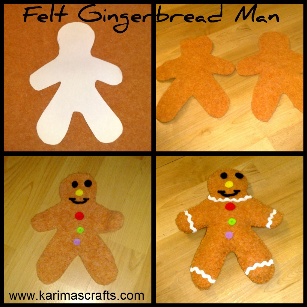 Felt Gingerbread Man Tutorial