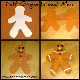 Felt Gingerbread Man Tutorial