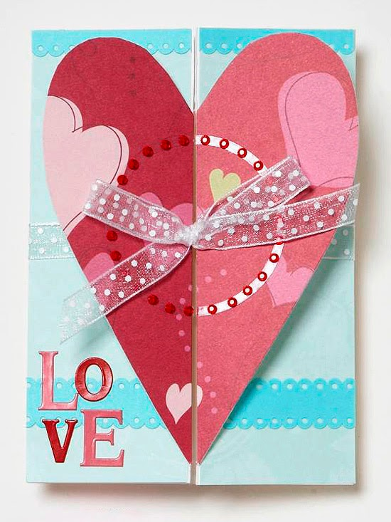 Easy handmade valentine 39 s day cards 2014 ideas from bhg for Valentine day card ideas