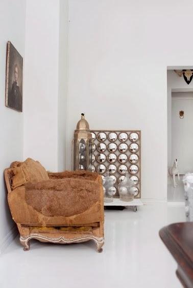 sillon con tela de arpillera