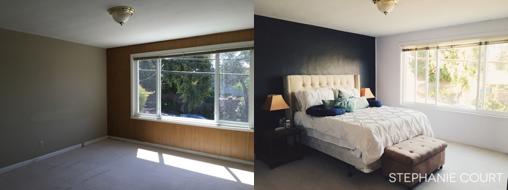 before and after bedroom painting