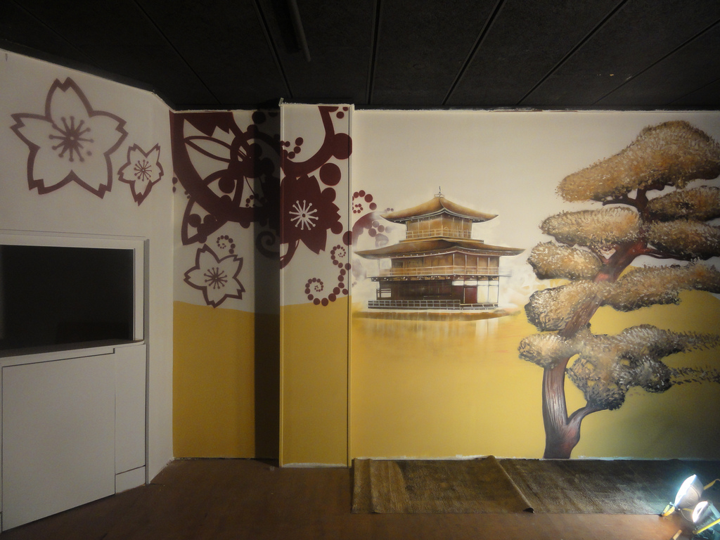 Berok graffiti mural profesional en barcelona pintura - Pintura mural barcelona ...