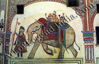 Royal Elephant (Wall Painting)
