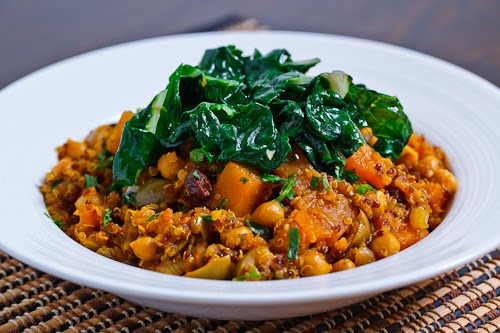 Moroccan Butternut Squash and Chickpea Tagine with Quinoa