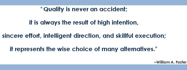 Quality assurance versus quality improvement
