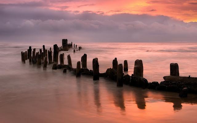 Grosse Point Beash Illinois Imagenes de Hermosos Paisajes HDR de Playas