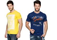 Buy Men's SPykar T-shirts at upto 40% off & Extra 20% Cashback Via paytm :buytoearn