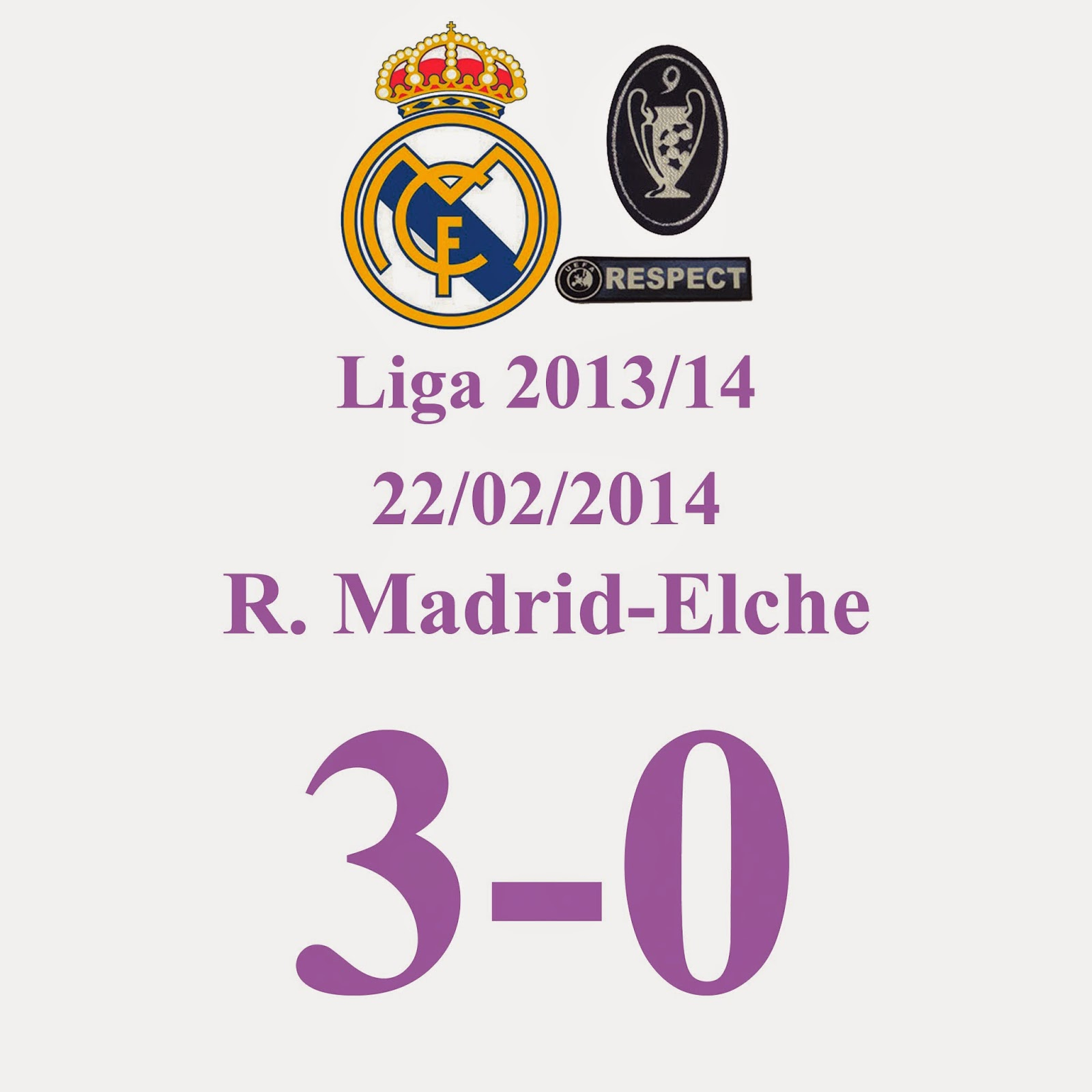 Real Madrid 3 - 0 Elche