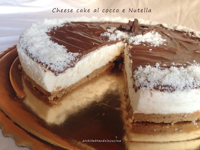 cheese cake al cocco e nutella gluten free