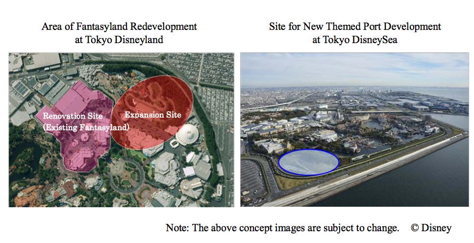 Newsplusnotes massive expansion revealed for tokyo disneyland resort large projects an expansion of fantasyland at tokyo disneyland that will nearly double the size of the land and a totally new port at tokyo disneysea sciox Gallery