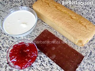 Prajitura Chec cu crema si gem ingrediente reteta
