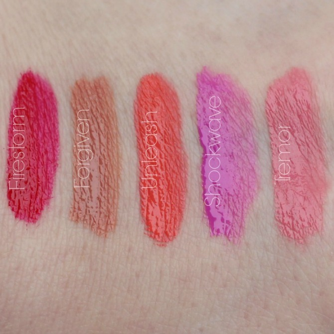 Lip Lava swatches