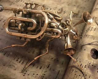 Musical Bug Art HD Wallpaper